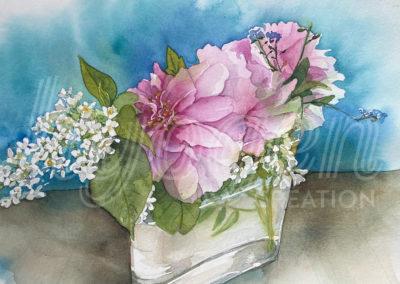 Aquarelle bouquet